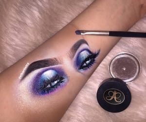blue, lashes, and purple image
