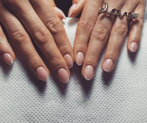 nails, Nude, and gelnails image