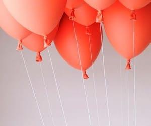 balloon, minimalism, and coral image