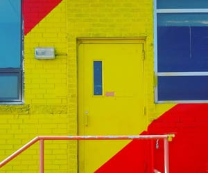 doors and primary colors image