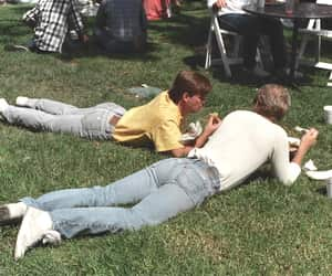 80s, boys, and grass image