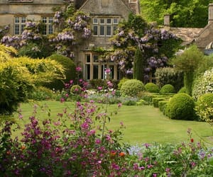countryside, barnsley house, and flower image