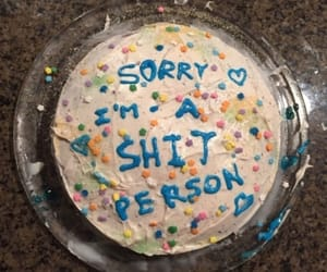 cake, sorry, and grunge image
