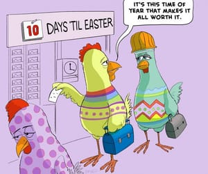 chickens, easter, and easter egg image