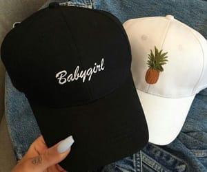 baseball hat, fashion, and girl image