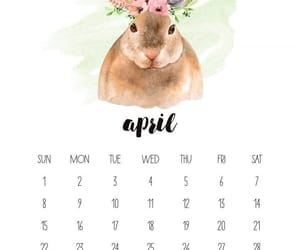 april, art, and kalender image