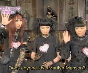 666, japanese girl, and Marilyn Manson image