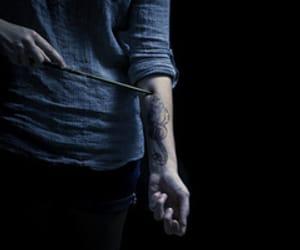harry potter, dark mark, and tattoo image