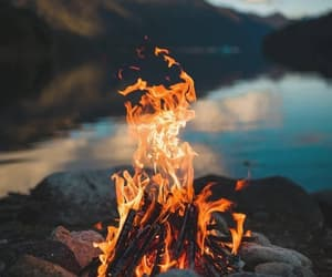 fire and mountains image