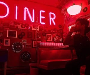 neon, red, and riverdale image