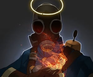 fire, Psycho, and Team Fortress 2 image