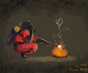 fire, cute, and Psycho image