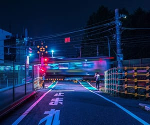 train, blue, and japan image