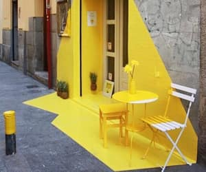 yellow, street, and art image
