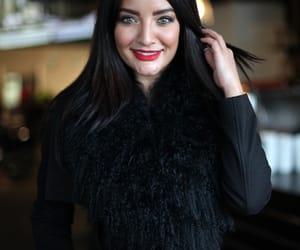 black, brunette, and fur image