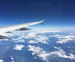 airplane, plane, and sky image