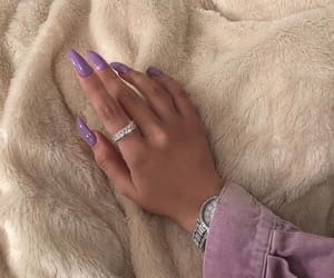 purple nails, girly inspiration, and nails goals image