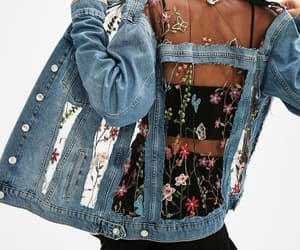 fashion, flowers, and jacket image