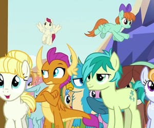 my little pony, yona, and smolder image