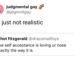 funny, nose, and self acceptance image