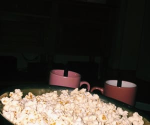 chill, movies, and popcorn image