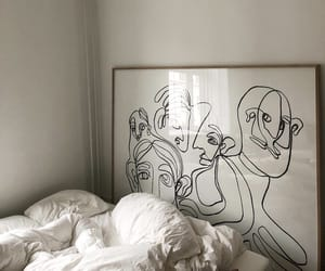 art, bed, and interior image