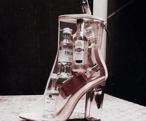 fashion, shoes, and alcohol image