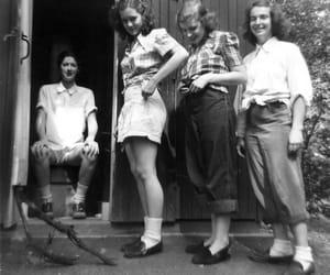 1940s, skirt, and teen girl image