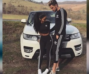 adidas, couple, and car image