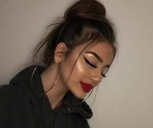 face, girl, and makeup image