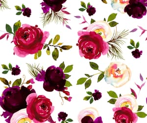 floral, flowers, and pattern image