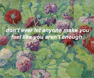 aesthetic, quote, and flowers image