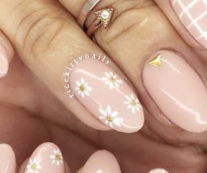 daisies, flowers, and nails image
