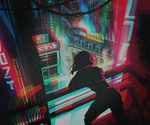 anime, art, and cyberpunk image