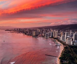 beach, hawaii, and landscape image