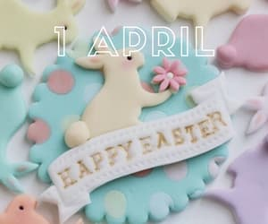 april, happy easter, and hello image