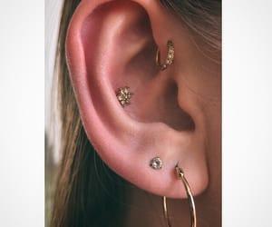 ear, Piercings, and earpiercings image