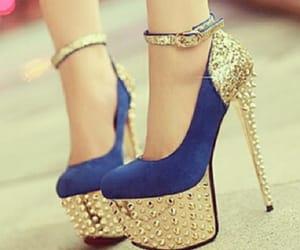 blue, shoes, and stilettos image