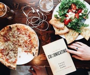 food, pizza, and girl image