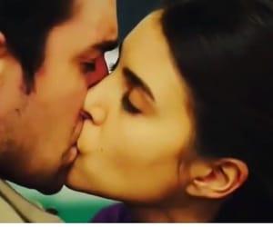 couple, kiss, and 😍 image