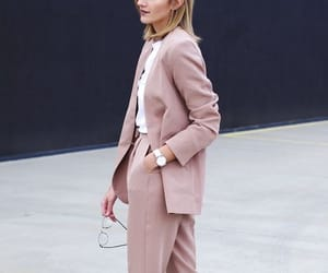 fashion, suit, and girl image