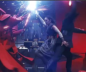 gif, rey, and star wars image