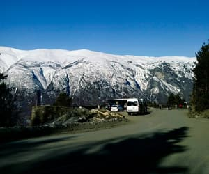 camp, mountain range, and winter image