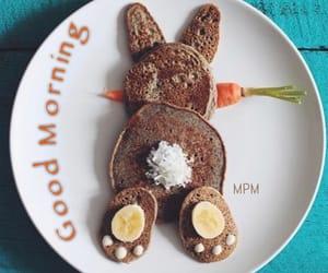 bunny, food, and pancake image