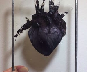 beautiful, black, and heart image