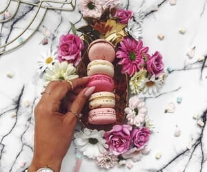 flowers, food, and pink image