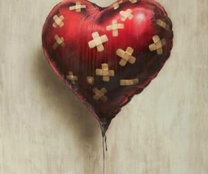 heart, BANKSY, and art image