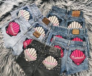 fashion, jeans, and mermaid image
