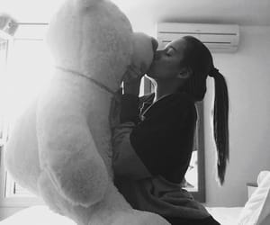 girl, teddy, and love image