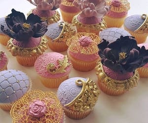 food, gold, and pink image